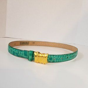 GREEN BELT WITH GOLD EMBELLISHMENT, SIZE MEDIUM